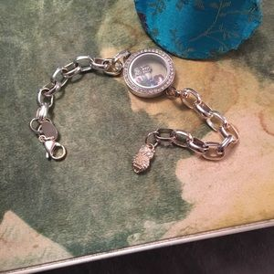 Origami Owl bracelet and charms